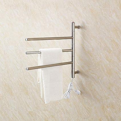 Montaje en Pared Toalla Rack Cuarto de baño tendedero eléctrico Calentador de Toallas eléctrica de Acero