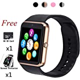 Beaulyn Smart Watch,Bluetooth Touch Screen Watch Phone for Android iPhone Pedometer Smartwatch Sport Wrist Watch Compatible Samsung iOS Men Women Kids …