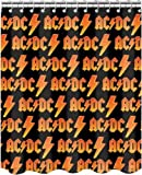 """AC DC Fabric Shower Curtain~ Approx 71"""" x 71"""""""