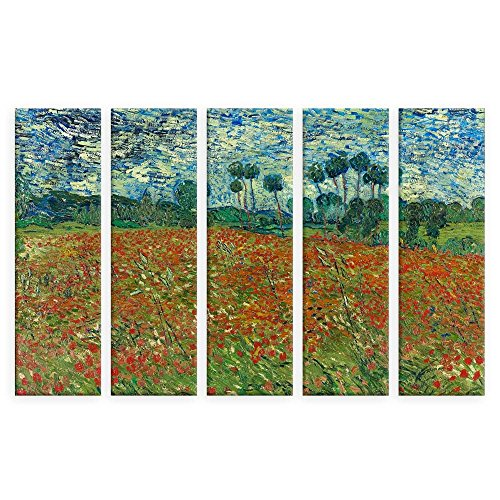 (Alonline Art - Poppies Field Vincent Van Gogh VINYL STICKER DECAL 53