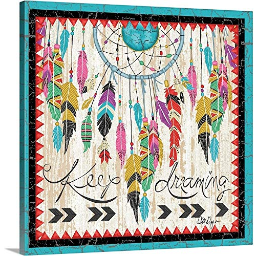 LoriLynn Simms Premium Thick-Wrap Canvas Wall Art Print entitled Native American - Dreamcatcher 20''x20'' by CANVAS ON DEMAND