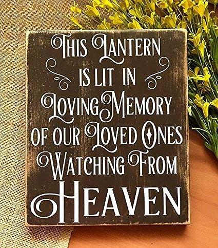 Amazon com: Emily in Loving Memory Sign Wedding Memorial