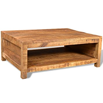 Table De Salon Carree.Anself Table Basse En Manguier Table Basse De Salon Carree