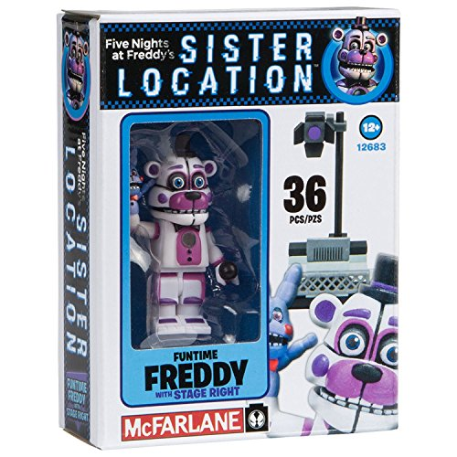 NEW! Five Nights at Freddy's Sister Location Construction Set - Fun Time Freddy With Stage Right - 36 - Locations Macy's