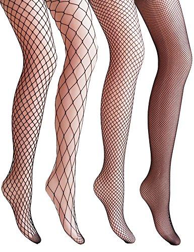 vero-monte-4-pairs-womens-argyle-fishnet-pantyhose-tights-black