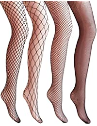 VERO MONTE 4 Pairs Women's Hollow Out Fishnet Pantyhose...
