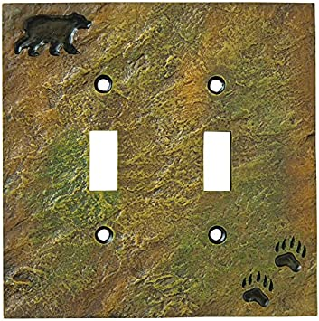 LL Home Co Bear On Log Triple Switch Cover