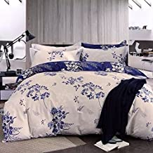 Elegant Comfort 1500 Thread Count Wrinkle and Fade Resistant Egyptian Quality Ultra Soft Luxurious 3-Piece Duvet Cover Set, Full/Queen, Grey