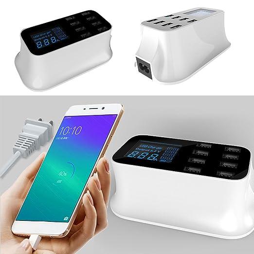 Comaie® Estación de cargador USB 8 Puertos escritorio Fast Smart ...