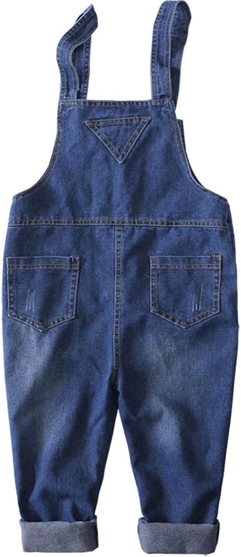 Ameyda Kids Baby Boys Girls Jeans Bib Overall Denim Pants