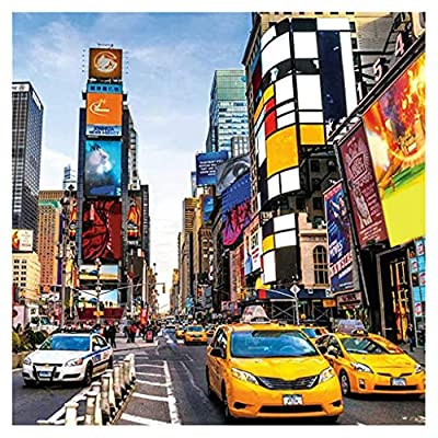 YAMY 1000 Pieces Jigsaw Puzzles for Adults Kids, New York Times Square Micro Jigsaw Puzzles Fun Fact Poster, Large Puzzle Game Toys Gift, Best Gift for Your Family 27.56 x 19.69inch (A): Toys & Games