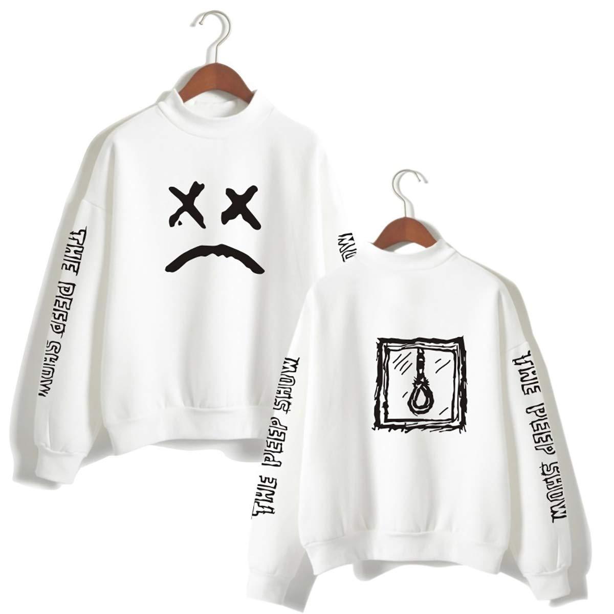Unisex Sweatshirt, Autumn Warm Music Style Pullover Fashion Printed Baseball Uniform,Weiß1,XXL