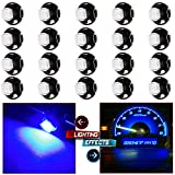 CCIYU 20 Pack Super Blue T5 Neo Wedge 5050 SMD LED Light Climate Heater Control Lamp Bulbs