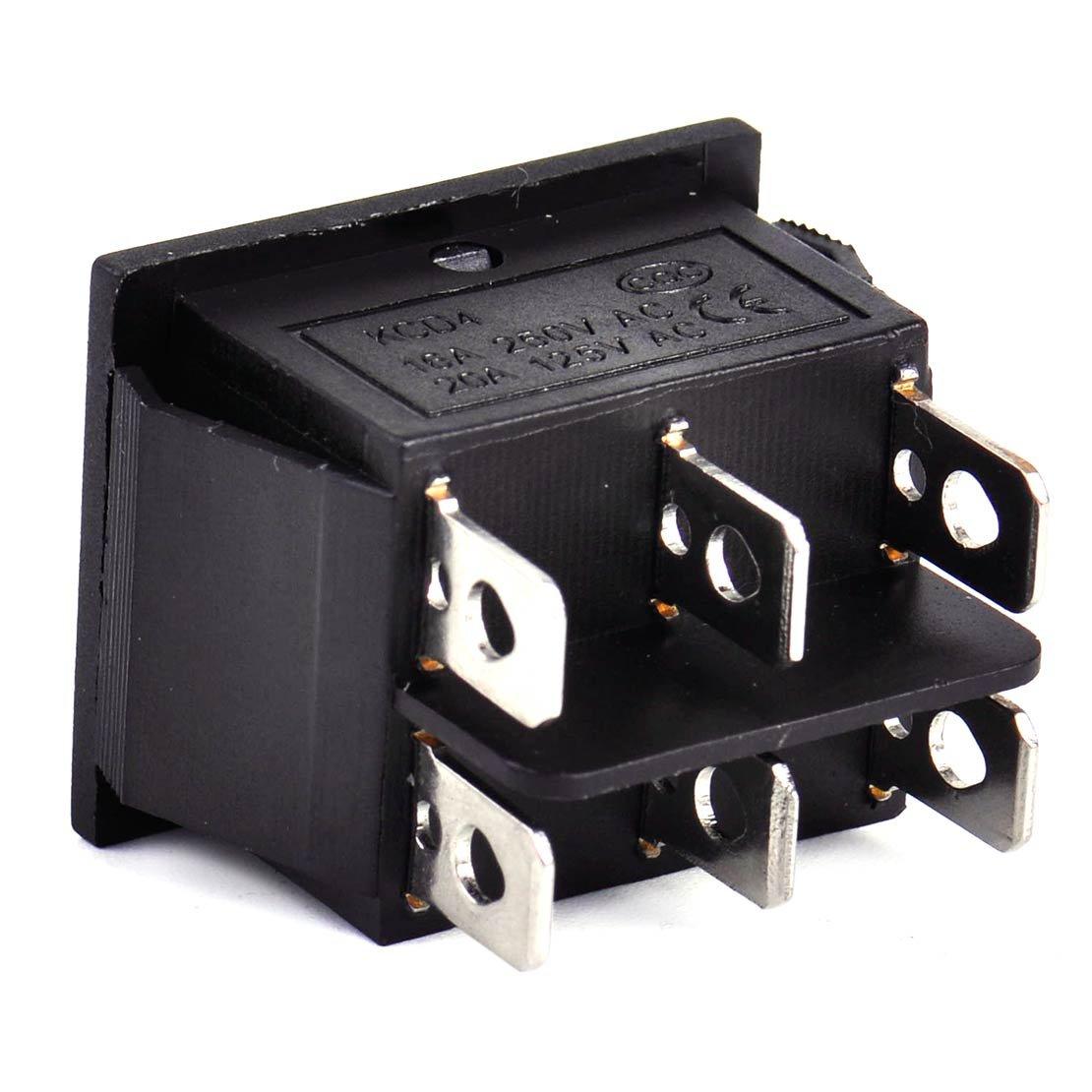 Beler barca 6/pin Dpdt 3/posizioni on-off momentaneo potenza finestra interruttore di controllo pulsante