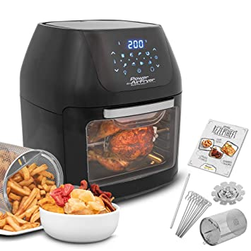MediaShop Power AirFryer Multi-Function Aire Caliente-Ofen 1800W Grillfunktion Negro: Amazon.es: Electrónica