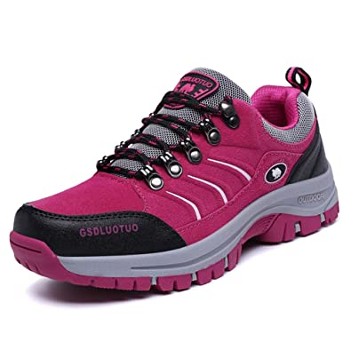 FEOZYZ Womens Lightweight Hiking Boots and Casual Hiking Shoes for Women