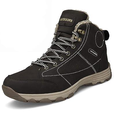 d82868ee31b Mens Hiker Suede Leather Waterproof Hiking Boot Outdoor Backpacking Shoe