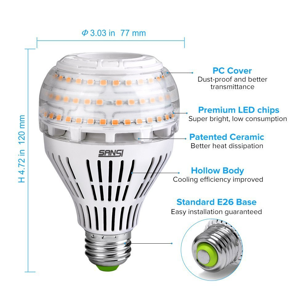 200 150 watt equivalent a21 22w led light bulbs 3000 lumens 3000k warm white ebay. Black Bedroom Furniture Sets. Home Design Ideas