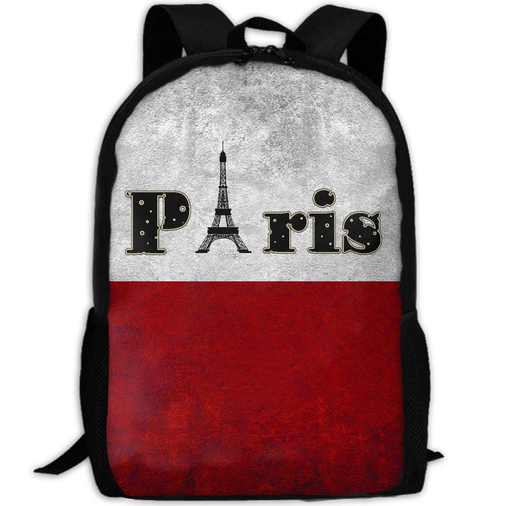 OIlXKV Paris Tower Print Custom Casual School Bag Backpack Multipurpose Travel Daypack For Adult