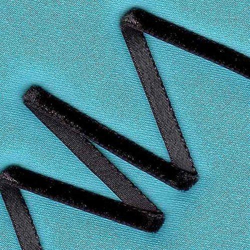 Nastro in velluto–nylva Lour–Nero–5mm kawenSTOFFE