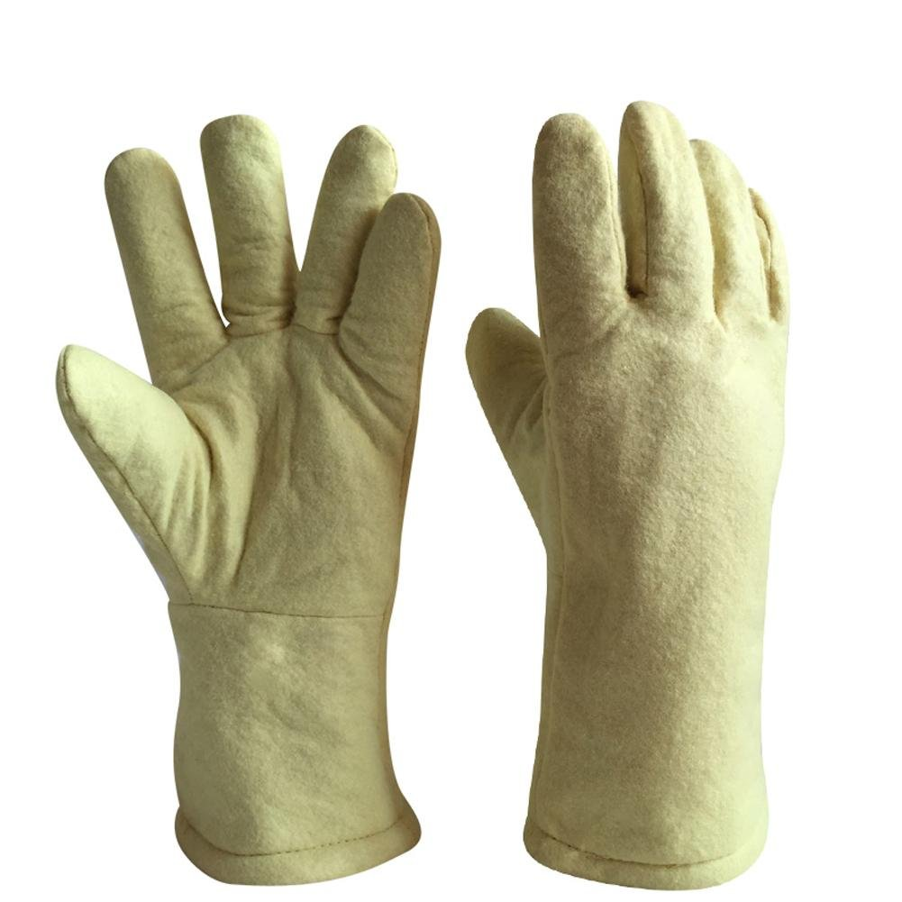 High temperature gloves 500 ? thermal insulation steel plant casting labor insurance products baking oven anti - hot safety protection