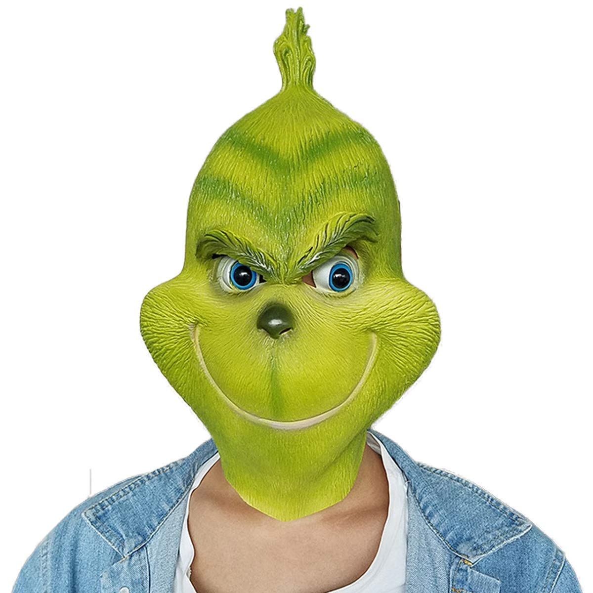 MOONLI Grinch Costume Kits for Halloween and Christmas Party Props