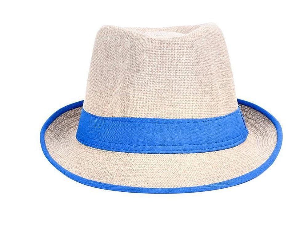 Leisial Unisex Sonnehüte Jazzhut Flexible Sommer Strohhut Strand Hüte für Herren und Damen Blau WJPP184402PH3ET104