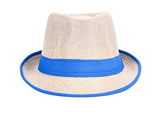 iTemer Unisex Men Women Linen Straw Hat Summer Beach Sun Cap Jazz Hat Fedora  Trilby Hat 231704fb46b2