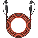 25 Foot SAE to SAE 2 Pin Quick Disconnect Harness,DC 12V Power Connector Plug Battery Charger SAE Power Extension Cable…