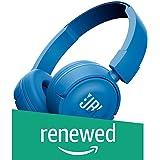 Renewed  JBL T450 On Ear Headphones with Mic  Blue