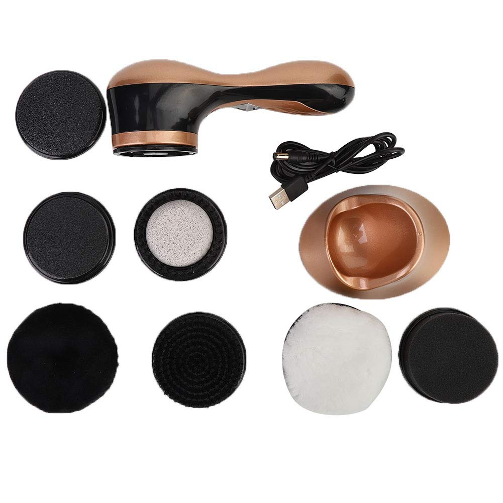 Electric Shoe Polishing Machine,Handheld Shoe Polisher Shoe Electric Machine With Rechargeable Battery And Charger Adapter Kit For Men Women