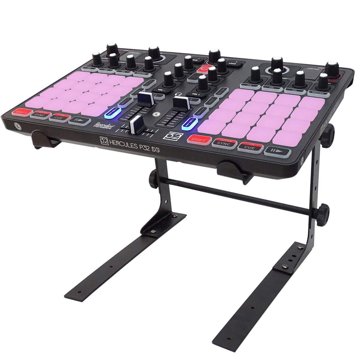Hercules P32 - Mesa de mezclas para DJ (incluye soporte para ...
