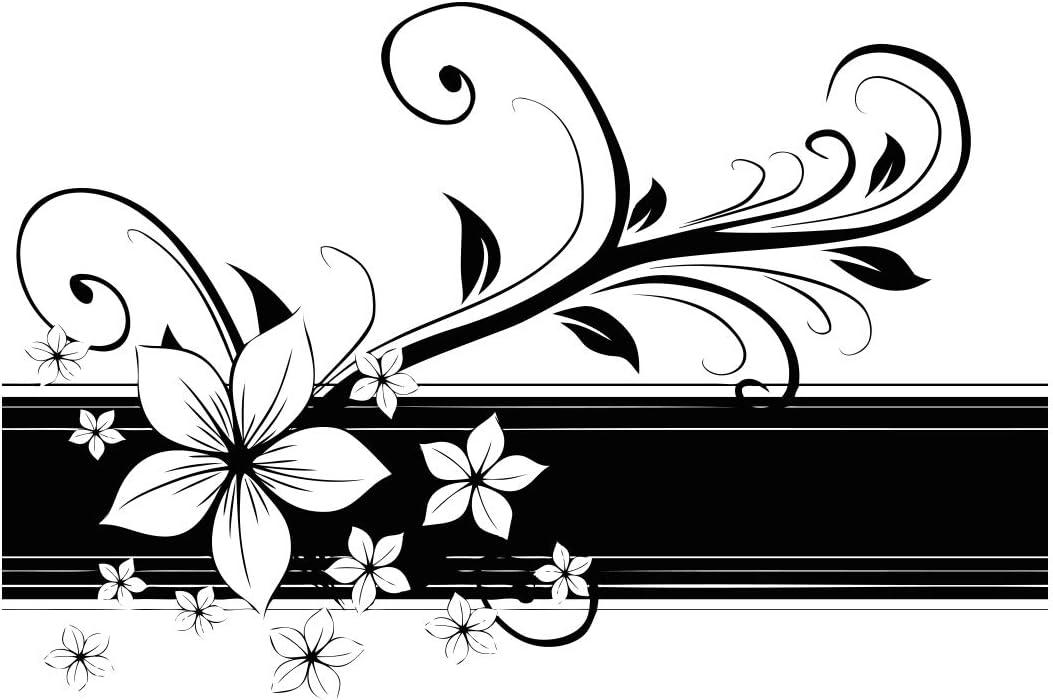 Stickerbrand Pegatina de pared de pegatina flor hawaiana frontera ...
