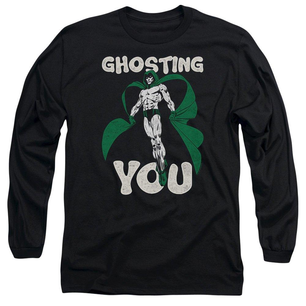 6d518218f4ad Black JLA Mens Ghosting Long Sleeve TShirt TShirt TShirt afb21e ...