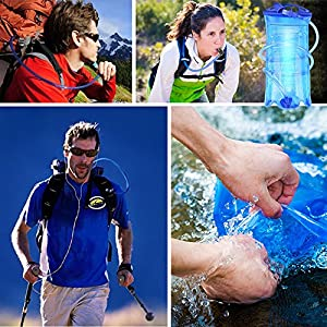 MATT SAGA Water Bladder Hydration Bladder 2 Liter 3 liter 1.5L Water Reservoirs BPA Free Hydration Pack Bladder Replacement for Backpacking Camping Hiking Backpack Outdoor Portable Insulated
