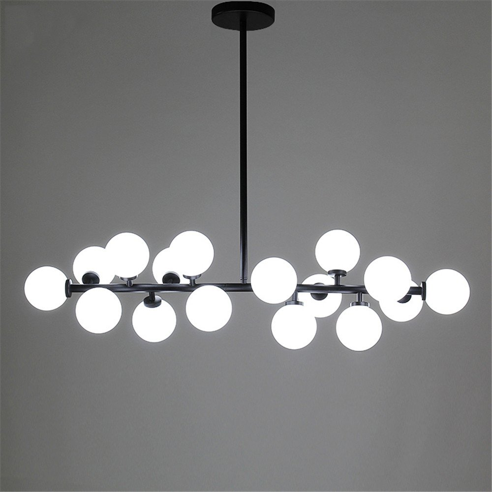 Modern Chandelier Glass Led Light Fixture Living Dining Room ...