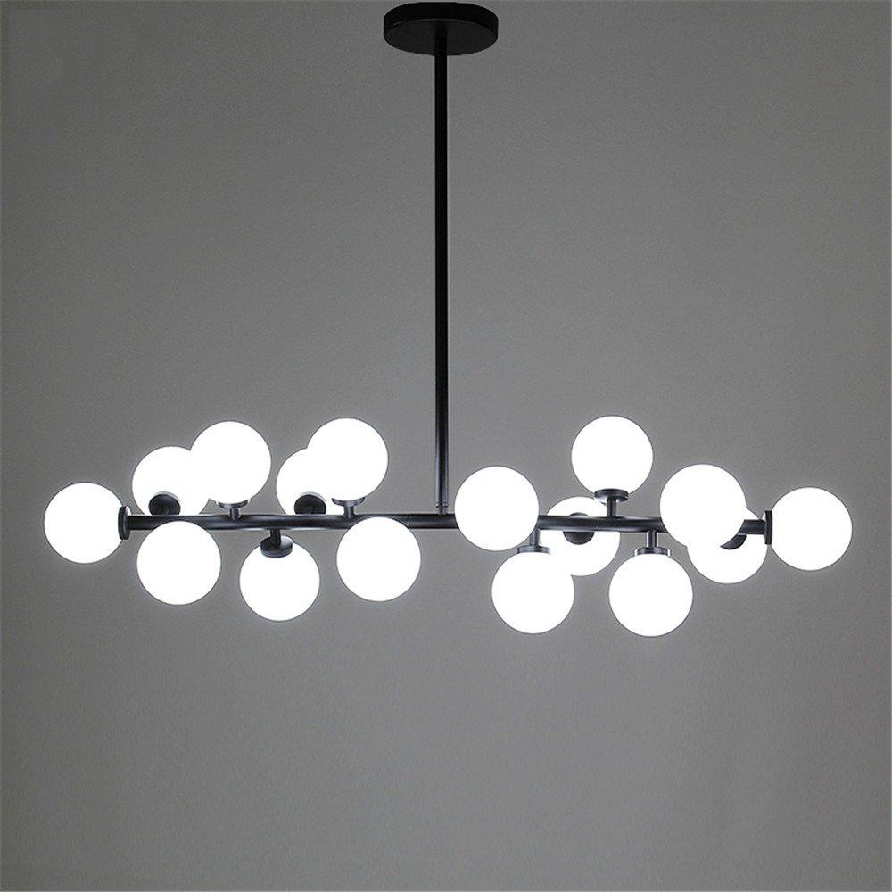 Amazon.com: Modern Chandelier Glass Led Light Fixture Living ...