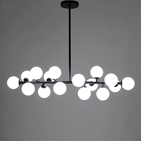 Modern Chandelier Glass Led Light Fixture Living Dining Room Bedroom ...