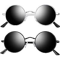 Joopin Round Retro Polaroid Sunglasses Driving Polarized Glasses Men Steampunk