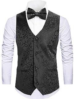 5bb00a1e5467 Cyparissus Mens Vest Waistcoat Men's Suit Dress Vest for Men or Tuxedo Vest