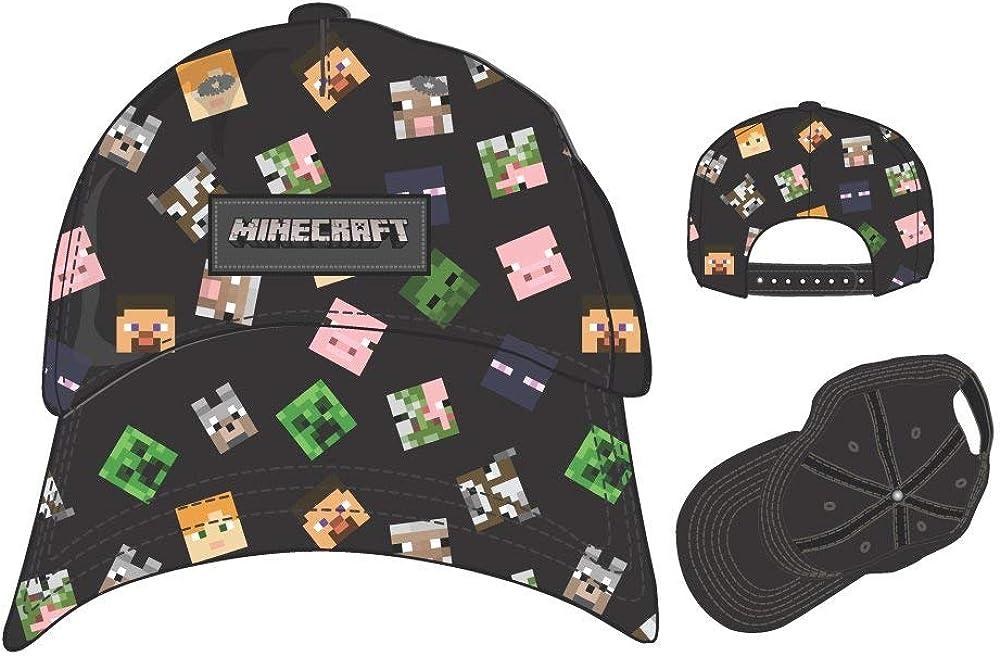 Bioworld Merchandising Minecraft Gorra, Negro Noir, única (Talla ...