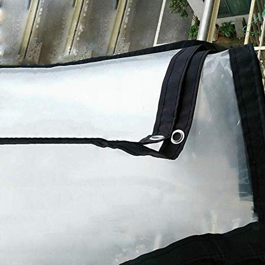 MYMAO 01Lona Transparente a Prueba de Agua a Prueba de Lluvia con Lonas Hoja de Metal Ojal de plástico a Prueba de Lluvia Cubiertas,5x6m