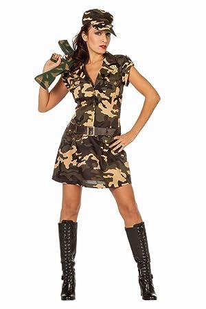 Karneval Damen Armee Camouflage Gr 36 Kostüm Fasching Soldatin 54jAq3RL