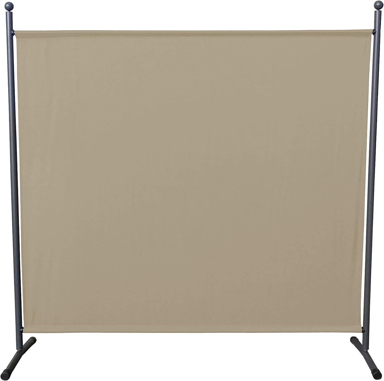 QUICK STAR 2 pi/èces Paravent 150 x 190 cm S/éparateur de Tissu Jardin Balcon /Écran de confidentialit/é partition Blanc