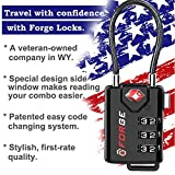 TSA Approved Cable Luggage Locks, Re-settable