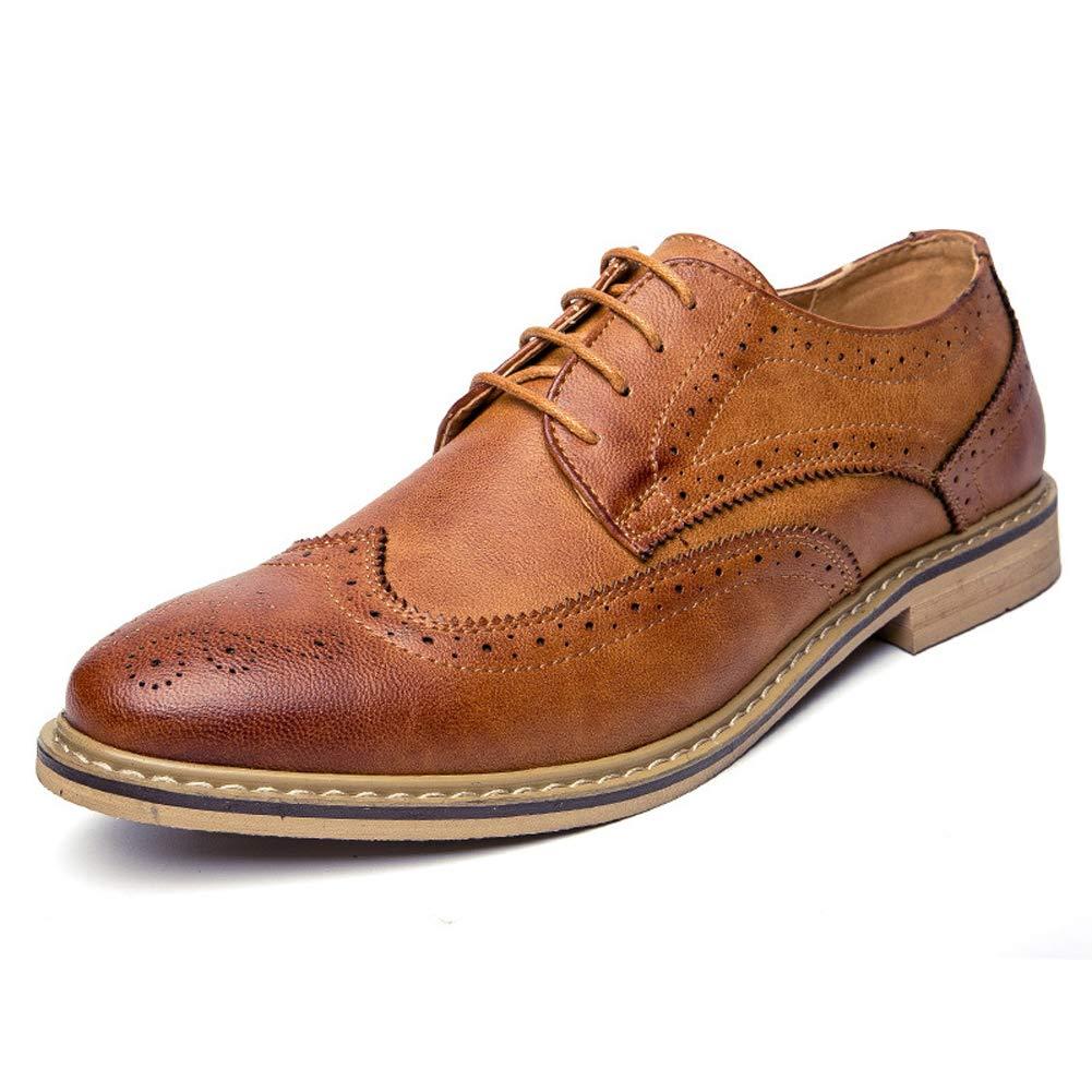 WMZMQ Zapatos Oxford Hombre Brock Tallado Cuero Casual Vestido de ...