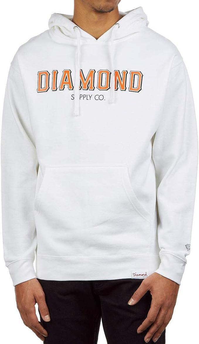 Diamond Supply Co  Women/'s Small Gray L//S Pullover Hoodie Sweatshirt Hood Pouch