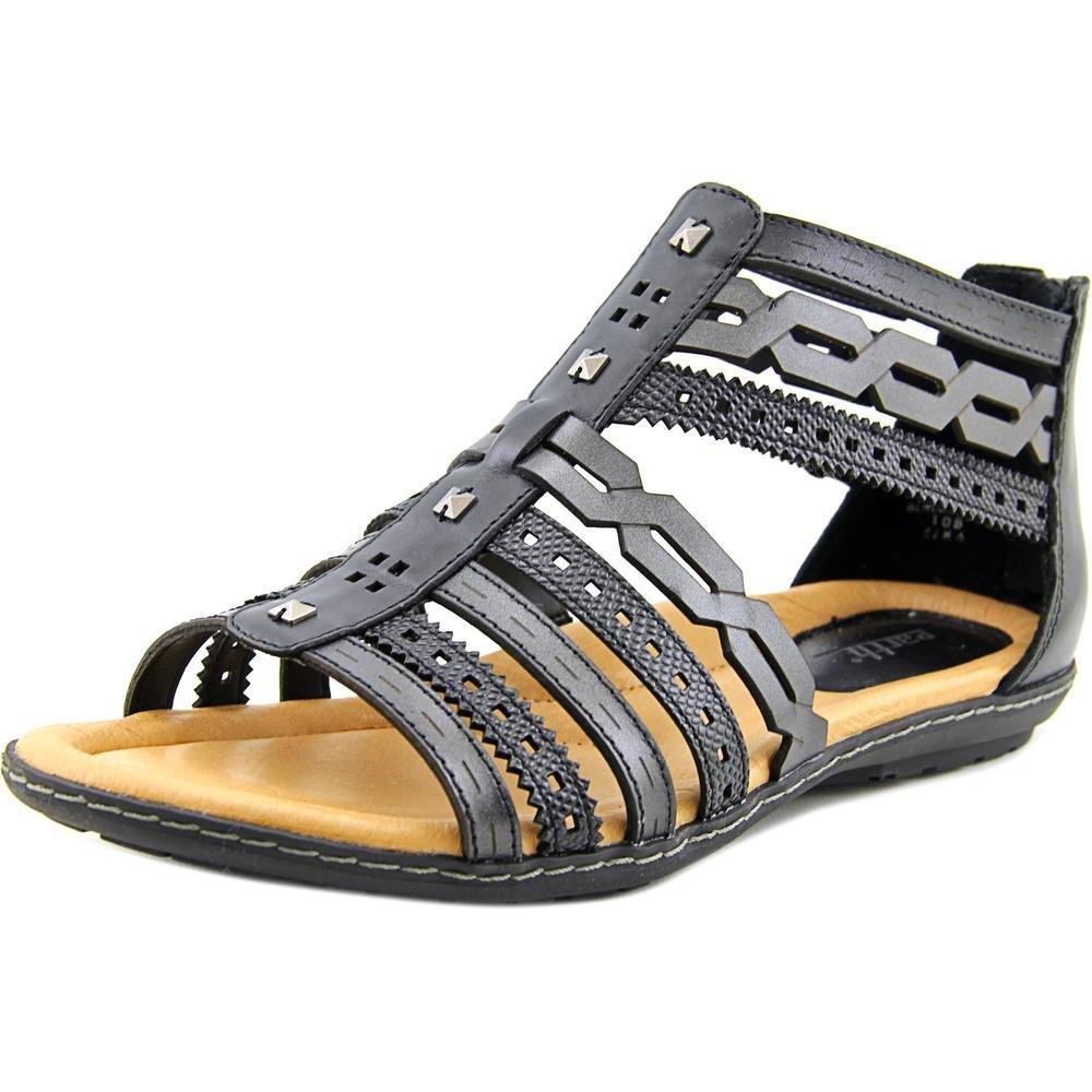 Earth Bay Gladiator Sandal - Black Multi Soft Leather - Womens - 8