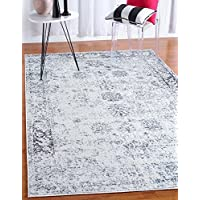 Unique Loom Sofia Collection Gray 8 x 10 Area Rug (8' x 10')