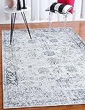 Unique Loom Sofia Collection Gray 4 x 6 Area Rug (4' x 6')